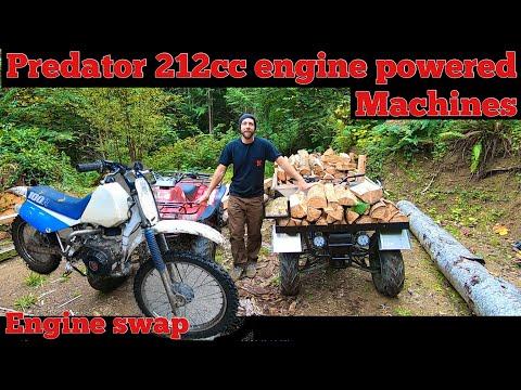 212cc Predator 6.5hp powered machines