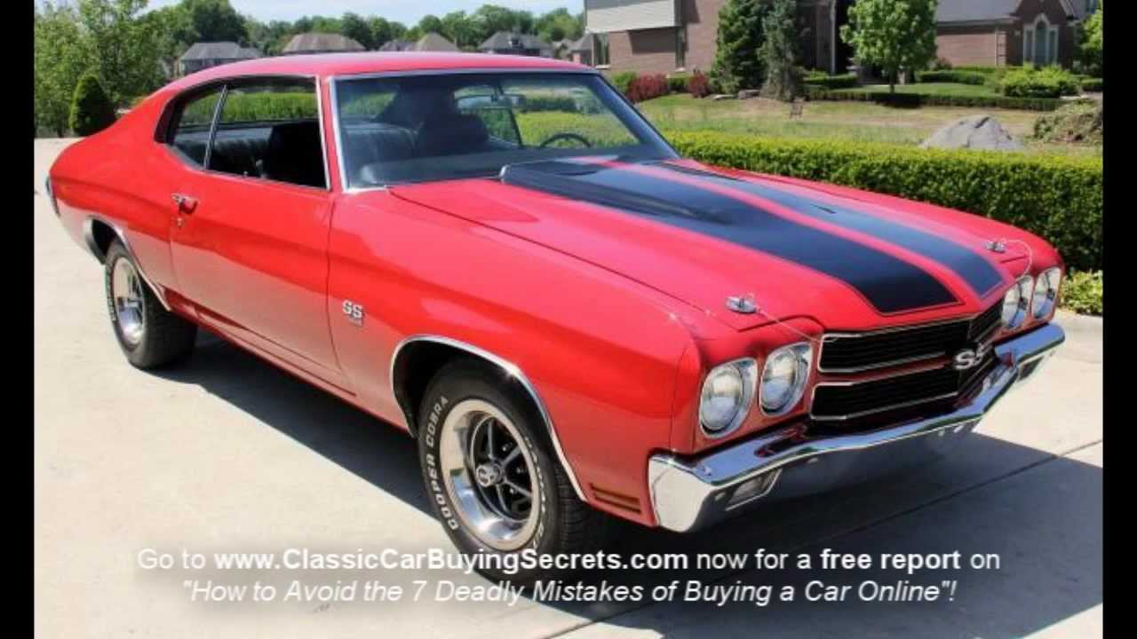 1970 Chevy Chevelle Classic Muscle Car For Sale In Mi