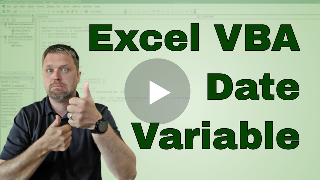 What is the Excel VBA (Macro) Date Variable Type