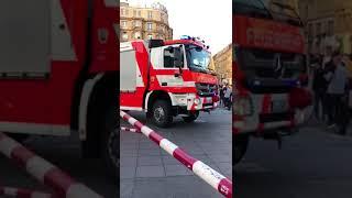 Arrivée des pompiers allemand à la gare de Frankfurt