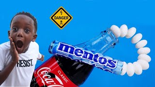 Coke Vs Mentos Bottle Flip Challenge (Do Not Try At Home)