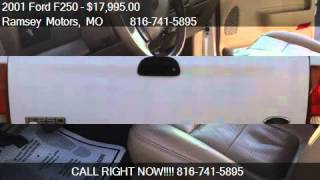 2001 Ford F250 Lariat Crew Cab Short Bed 4wd For Sale In Riv