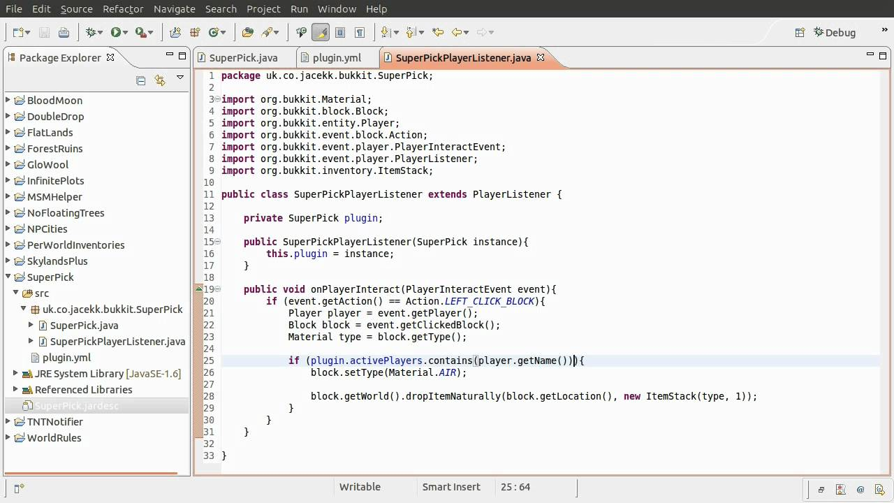 java bukkit plugin tutorial chat commands implementing the java bukkit plugin tutorial chat commands implementing the commands part 04