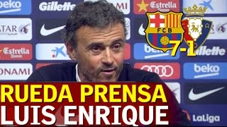 Barcelona 7-1 Osasuna   Rueda de prensa de Luis Enrique   Diario AS
