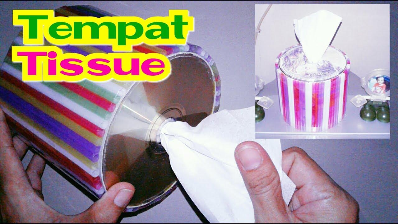 Membuat Tempat Tissue Dari Kardus Susu Sedotan Dan Cd Bekas Youtube Kotak Kulit