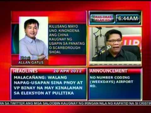 DB: Kilusang Mayo Uno, kinondena ang China kaugnay ng usapin sa Panatag Shoal (042012)