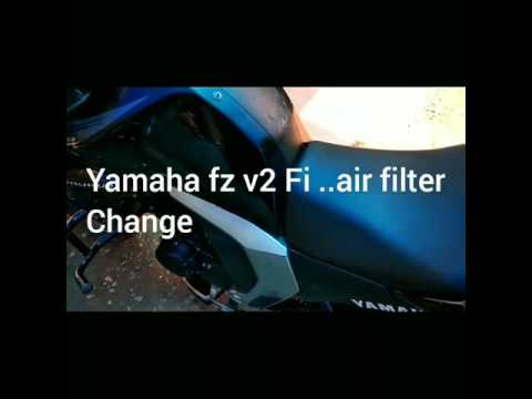 Yamaha fz v2 /Yamaha byson.. Fi Air filter change..DIY
