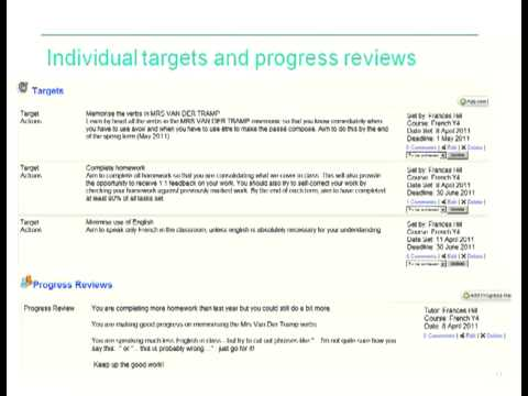 Frances Hill Moodle for RARPA  (Recognising and recording progress and achievement)