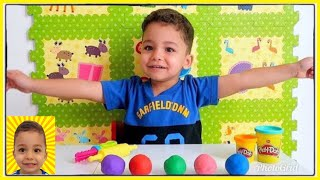 Learn Colors and Shapes for Kids with Play doh - Nursery Rhymes Song for kids