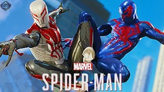 Spider-Man PS4 - 2099 Suits Free Roam Gameplay!