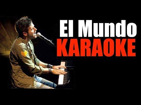 Pablo López - El Mundo - KARAOKE