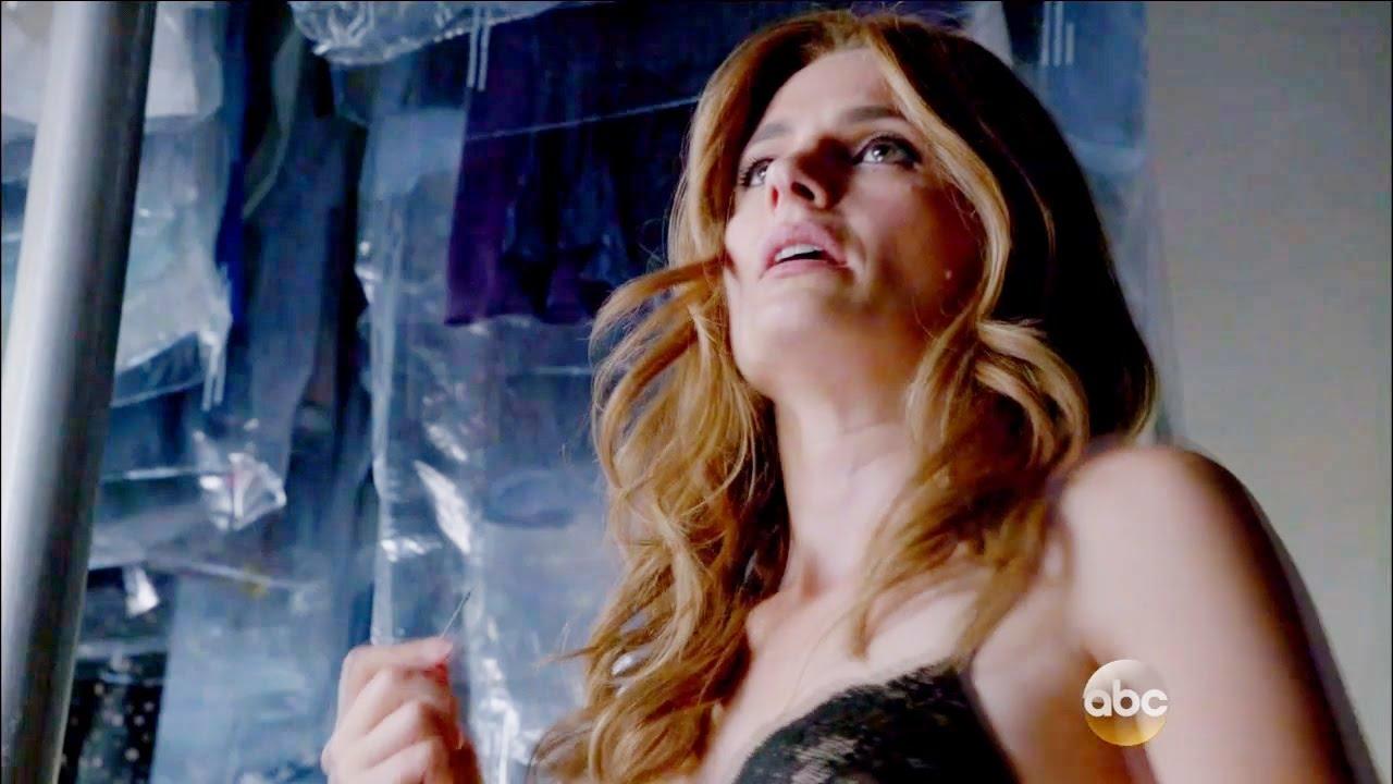 """Download Castle 8x02 """"XX""""  Beckett Suturing her Wound Scene Season 8 Episode 2"""