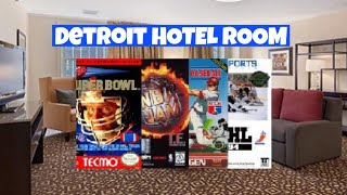 Detroit Hotel Room - Tecmo, NHL 94, NBA Jam TE, RBI Baseball