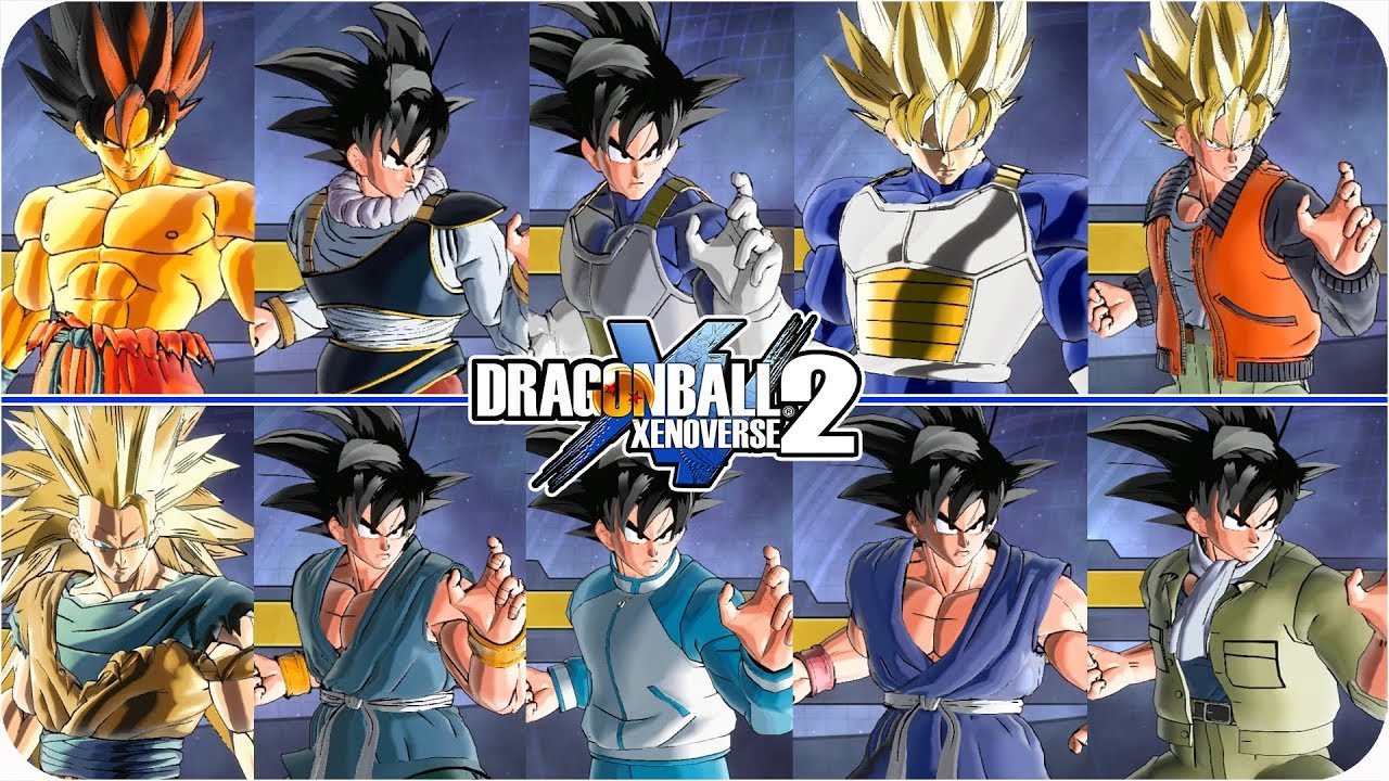 Goku 11 NEW Skins and Transformations Pack - Dragon Ball Xenoverse 2 Mod