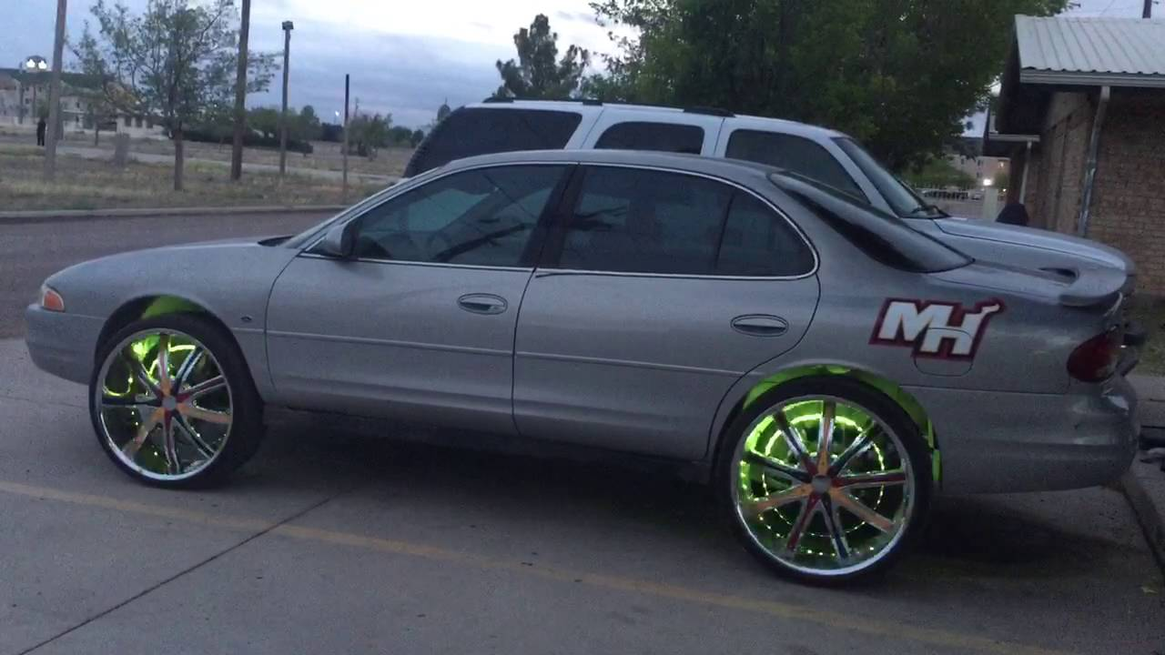Dream color led wheel rings on 1999 oldsmobile intrigue on 24 decenti s one side miami heat the ot