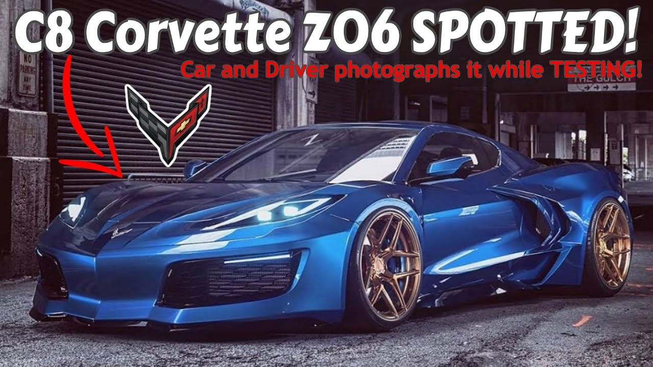 2021 C8 Corvette Z06 SPOTTED testing in the SNOW! Wide ...