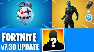 Fortnite New v7.30 Update: Chiller Grenade, New Starter Pack, Snowfall Skin! (New Fortnite Update)