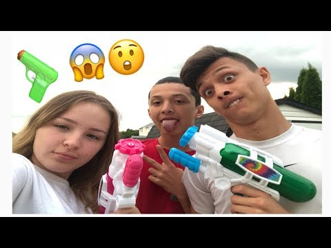 Paint Ball Fight GONE WRONG!! || ft. Little Brother and Cousin (MJ CREW)