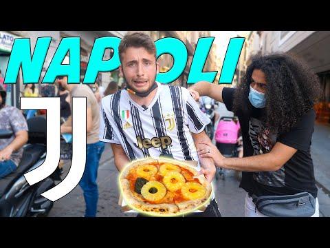 MANGIO a Napoli PIZZA CON L'ANANAS con la maglia della JUVE per 1 ORA! *ESTREMO*
