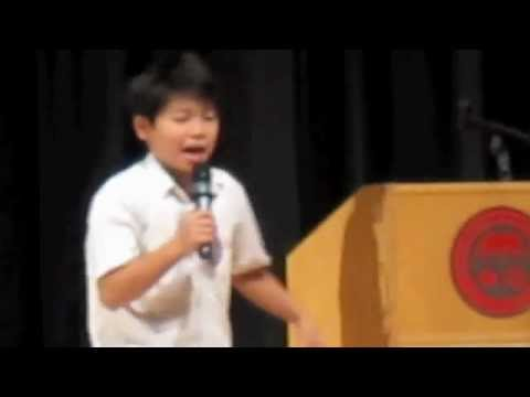 Grade 6 Student Council Winning Speech - YouTube