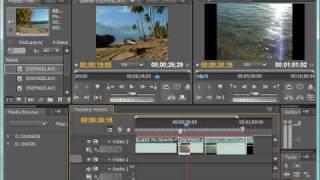Обзор инструментов панели Timeline в Adobe Premiere CS4 (13/39)