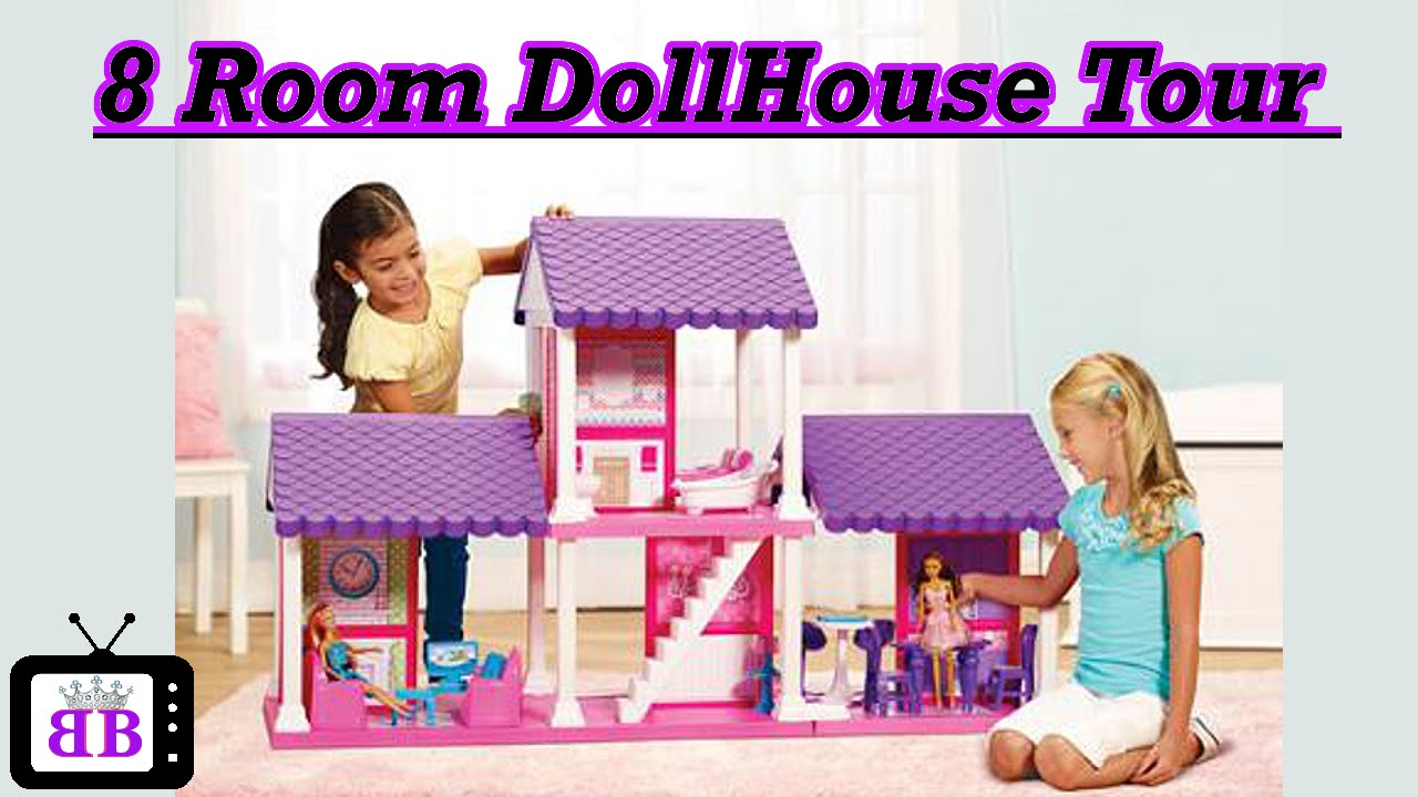 Dollhouse Tour U0026 Review  Customized For Barbie U0026 Fashion Dolls + Easy Doll  Crafts   YouTube