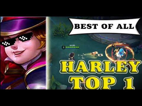 MOBILE LEGENDs | HARLEY BEST GAMEPLAY BY (exotic-harss) WORLD TOP ----SKIN GIVEAWAY---