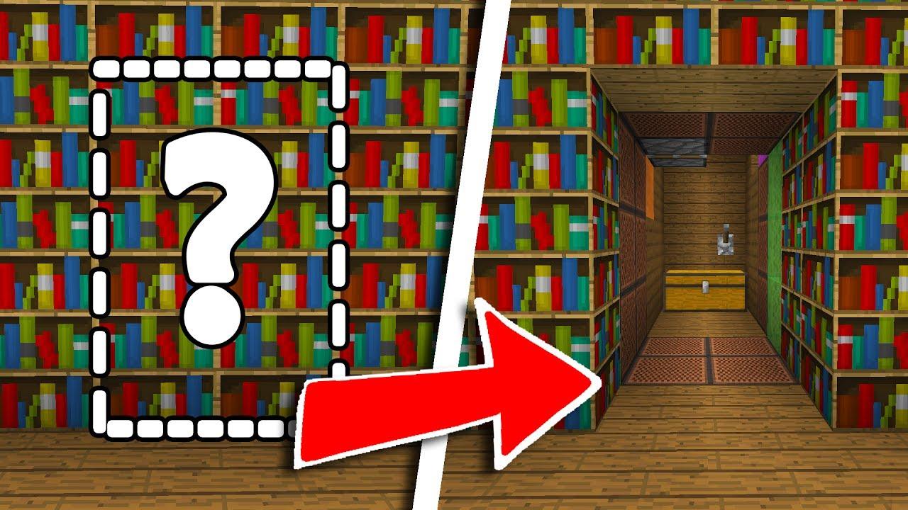 Comment Créer Un Passage Secret tuto passage secret ultra sÉcurisÉ ! | minecraft