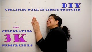 DIY Transforming Walk-in Closet to Studio