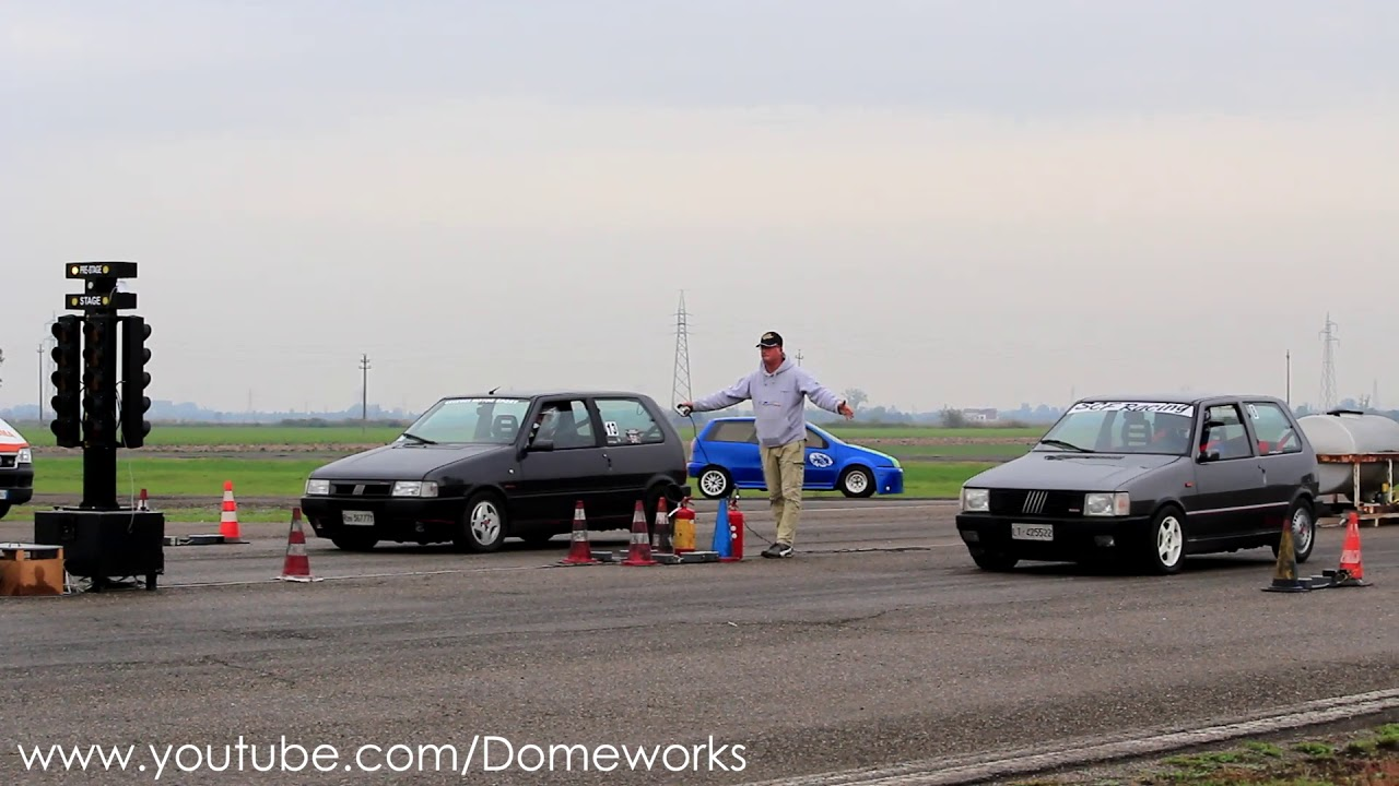 333hp fiat uno turbo mk1 vs fiat uno turbo mk2 260hp drag race