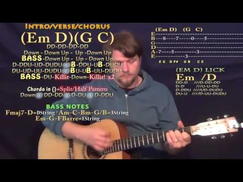 Fresh Eyes (Andy Grammer) Guitar Lesson Chord Chart - Em D G C