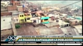 Deslizamientos arrasan con viviendas y pobladores graban el momento
