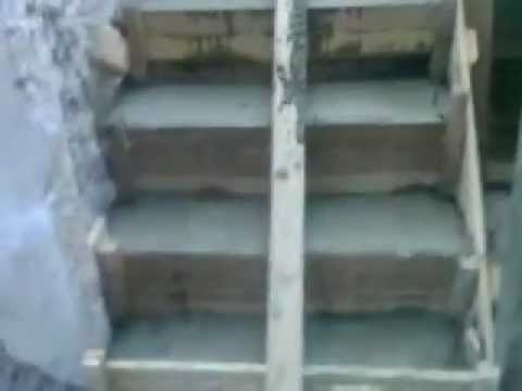 Escalera de hormigon con descanzos youtube for Como hacer una escalera de cemento