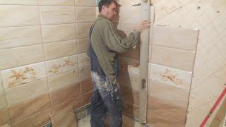 УКЛАДКА плитки в ванной УГОЛ 90 ° КАК класть плитку УГЛЫ 90 °(УКЛАДКА плитки в ванной УГЛЫ 90 °, как класть плитку под углом 90 °, как правильно класть плитку. Вариант плитк..., 2016-10-01T03:33:47.000Z)
