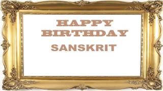 Sanskrit   Birthday Postcards & Postales - Happy Birthday