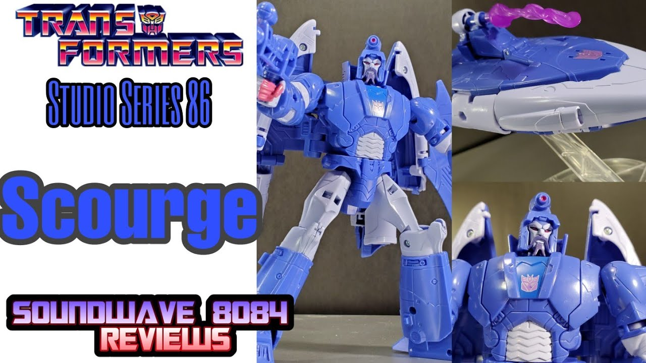 Transformers Studio Series 86 Movie Scourge Voyager Class Review by Soundwave 8084