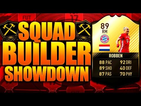 INSANE DISCARD!! EPIC SIF ROBBEN SQUAD BUILDER SHOWDOWN!! FIFA 17 ULTIMATE TEAM