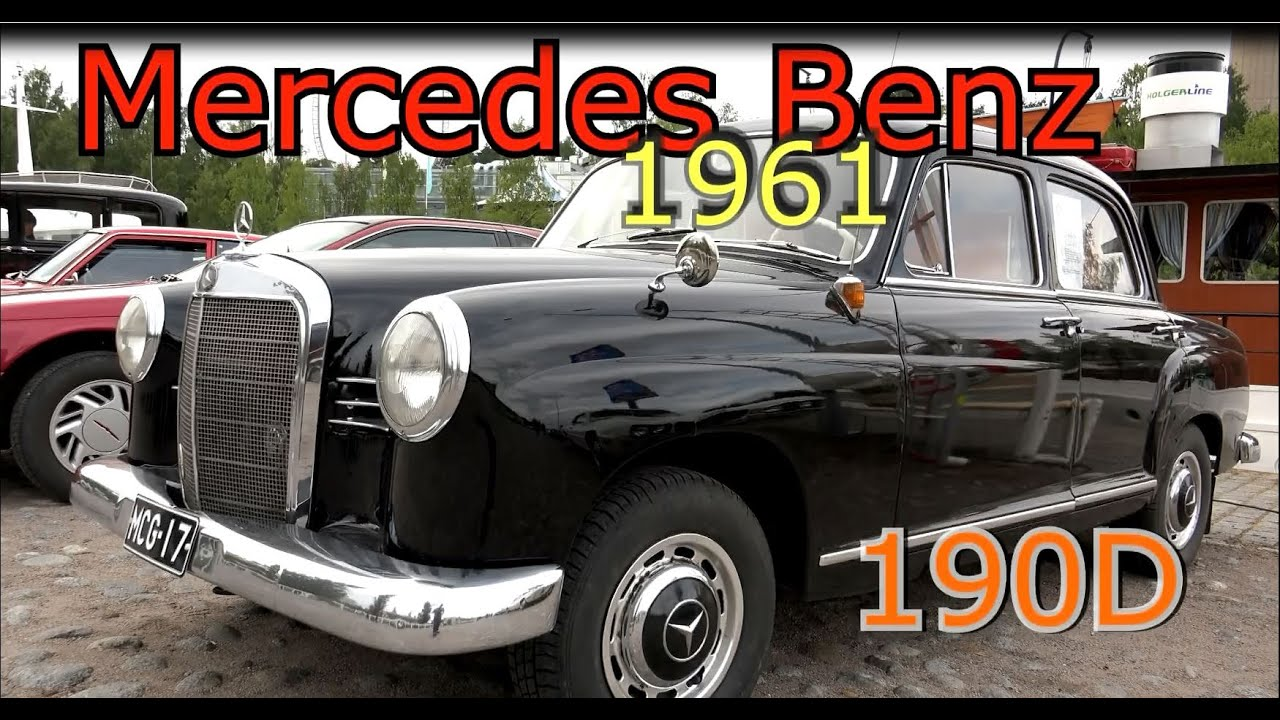 1961 Mercedes Benz 190 D- Old classic car - YouTube
