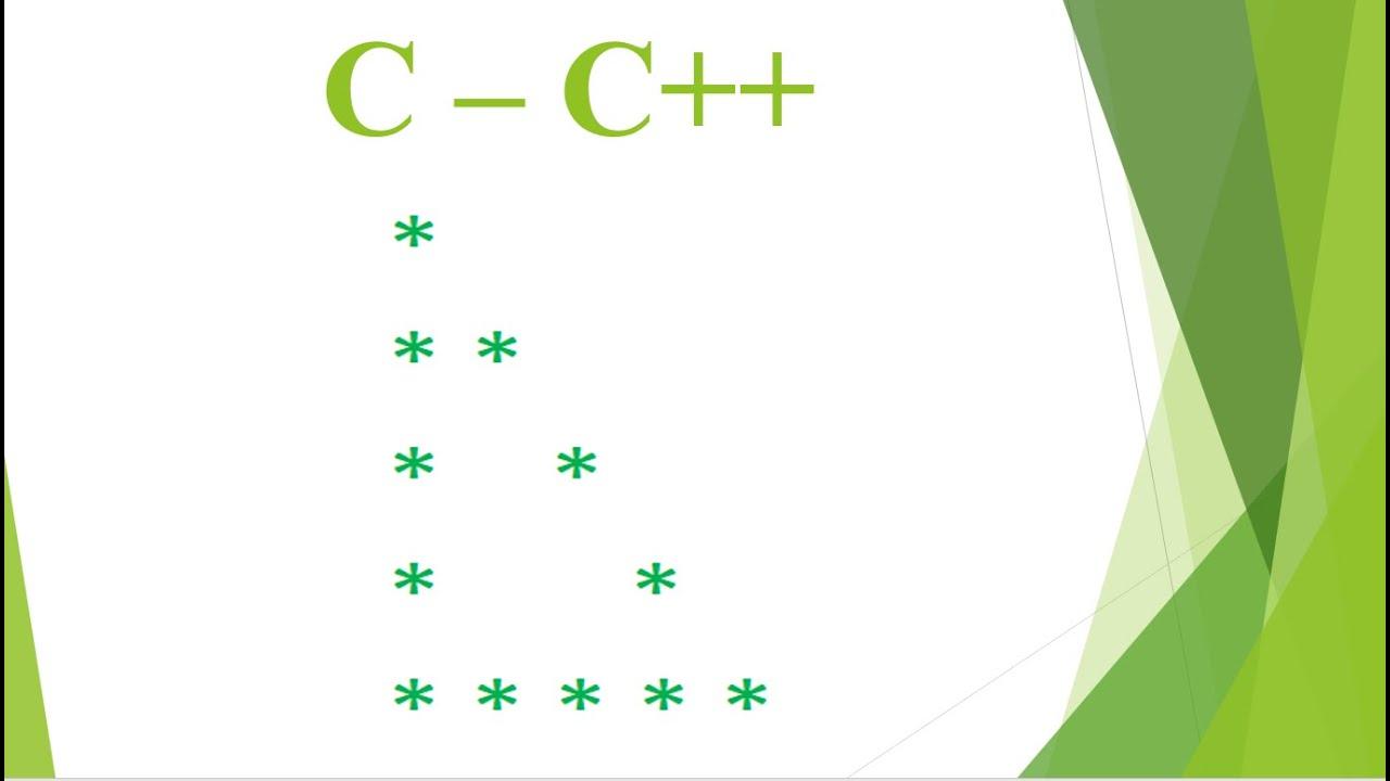 [C – C++] BÀI TẬP NHẬP MÔN LẬP TRÌNH – PHẦN 4 – IN TAM GIÁC RỖNG