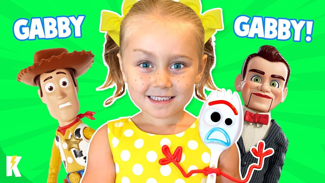 Gabby Gabby in Real Life! (Toy Story 4 Movie Game, Hello Neighbor Style!) KIDCITY