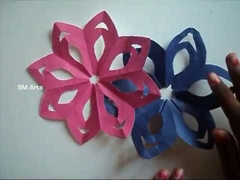 How To Make Color Paper Cutting Craft Design Simple Youtube