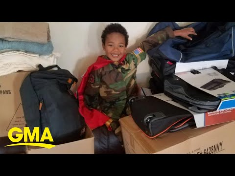 'GMA' surprises boy who helps homeless vets l GMA