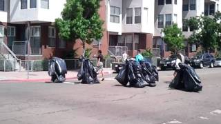 Garbage bag people