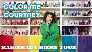 A Rainbow New York City Apartment Tour   Color Me Courtney   Hgtv Handmade Home Tour