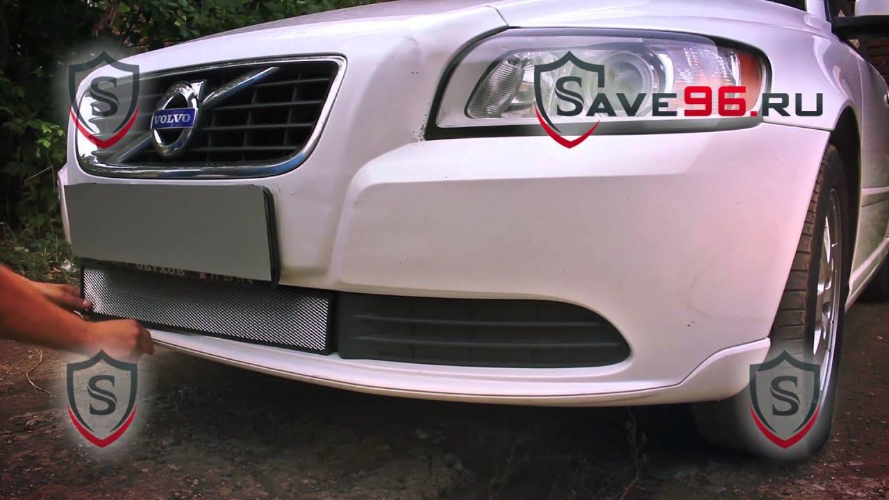 Защита радиатора на Volvo S40 (Вольво С40) 2007-2012 г.в. (рейтайлинг)