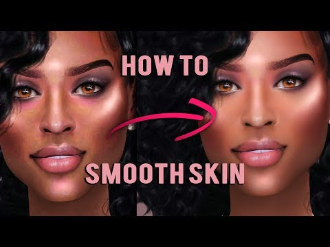 The Sims 4 - Photoshop Tutorial - Smooth Skin