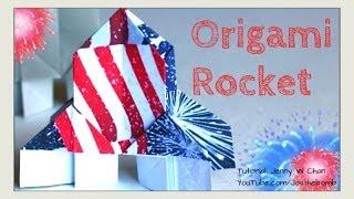 Diy Origami Rocket - July 4th Crafts - Kids Summer Crafts - Paper Crafts, Diy Fireworks