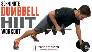 You only need 30 minutes to work every major muscle group in your body with this dumbbell hiit workout. shred total perfect workout wi...