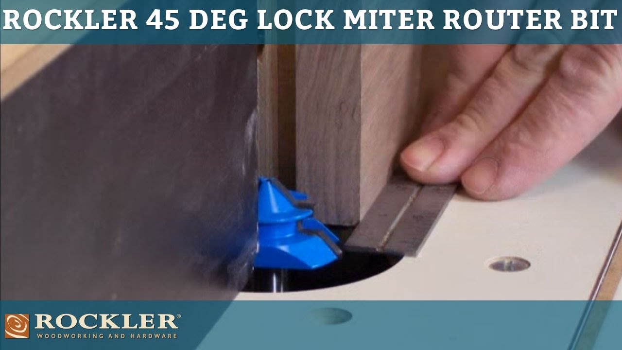 Rockler 45 Degree Lock Miter Router Bit Youtube