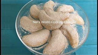 Moon Cookies - Shortbread Cookies (Classic Version) - Easy Flaky Butter Cookies Recipe